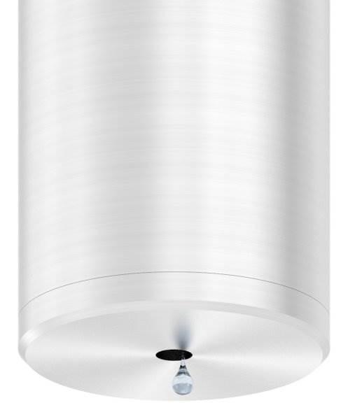 Stopfen flach V2A Vollmaterial für Ø 42,4x3,0 mm mit Entwässerungsbohrung 5 mm