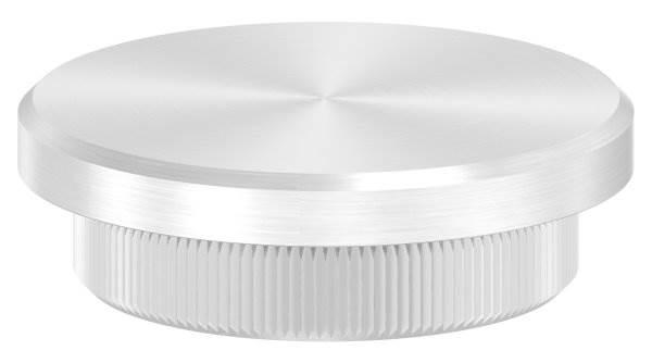 Stopfen flach V2A Vollmaterial für Ø 42,4x4,0 mm