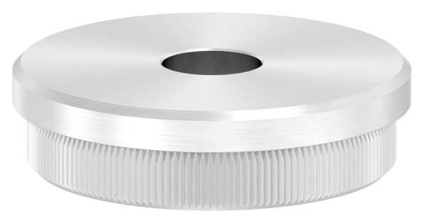 Stopfen flach V2A Vollmaterial für Ø 48,3x2,0 mm mit Bohrung 12,1 mm