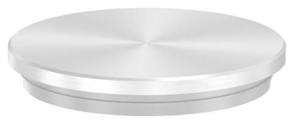Stopfen flach V2A Vollmaterial für Ø 48,3x2,6 mm - dünne Ausführung verjüngt