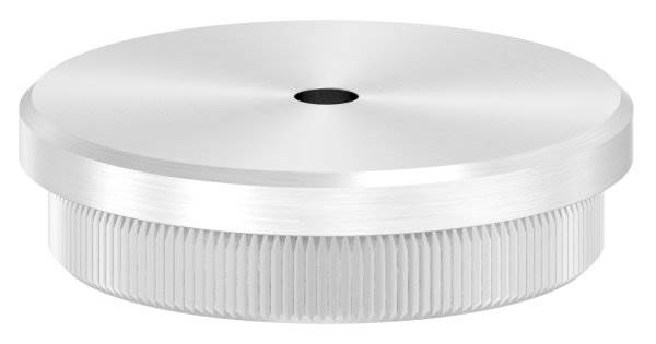 Stopfen flach V2A Vollmaterial für Ø 48,3x2,6 mm mit Entwässerungsbohrung 5 mm