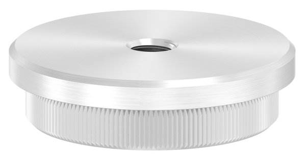 Stopfen flach V2A Vollmaterial mit M8 für Ø 48,3x3,0 mm