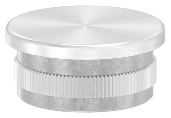 Stopfen flach V4A gegossen für Ø 33,7x2,0 mm