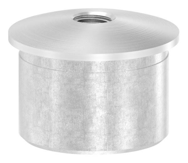 Stopfen | für Rohr-Ø: 33,7x2,0 mm | leicht gewölbt | Gewinde: M8 | V2A