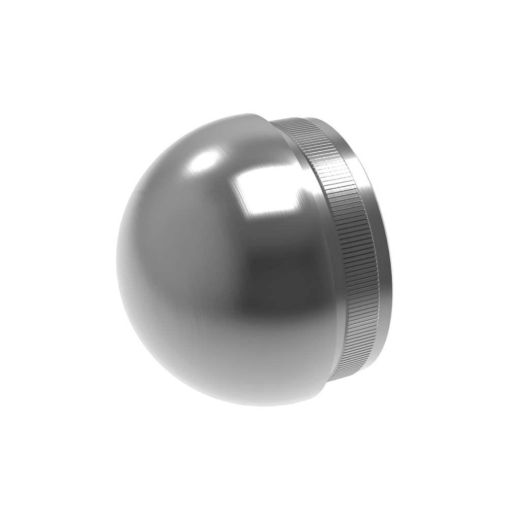 Stopfen halbrund für Ø 42,4x2,0 mm V2A Vollmaterial