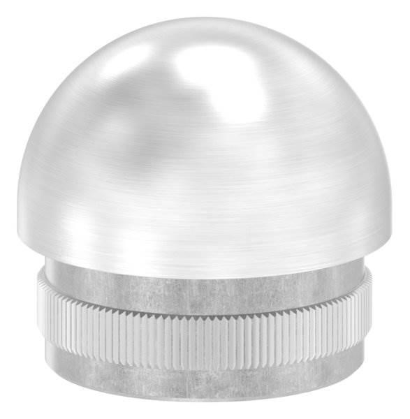 Stopfen halbrund V2A gegossen für Ø 33,7x2,0 mm