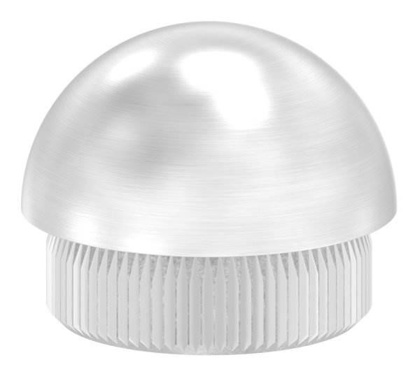 Stopfen halbrund V2A Vollmaterial für Ø 26,9x2,0 mm
