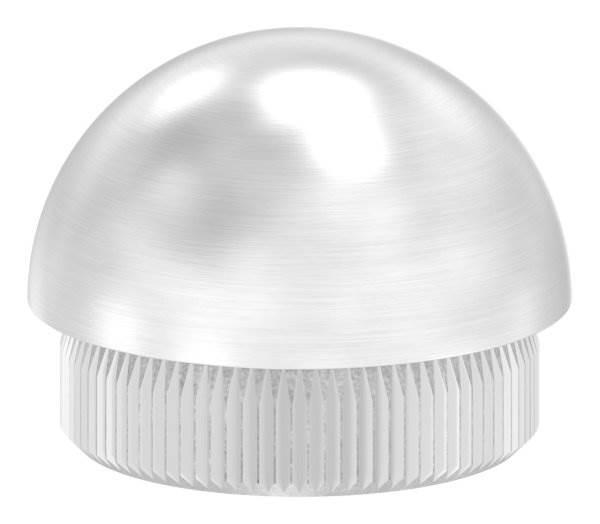 Stopfen halbrund V2A Vollmaterial für Ø 30,0x2,0 mm