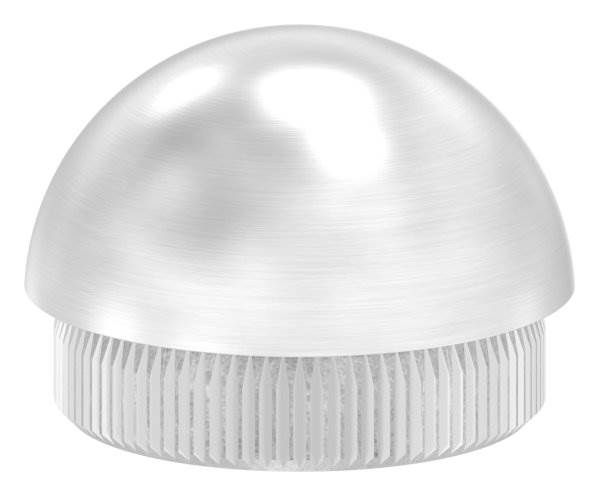 Stopfen halbrund V2A Vollmaterial für Ø 33,7x2,0 mm