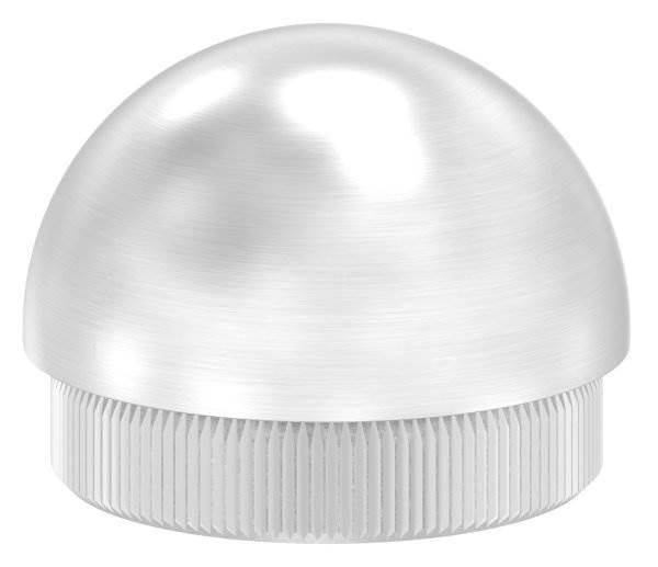 Stopfen halbrund V2A Vollmaterial für Ø 40,0x2,0 mm