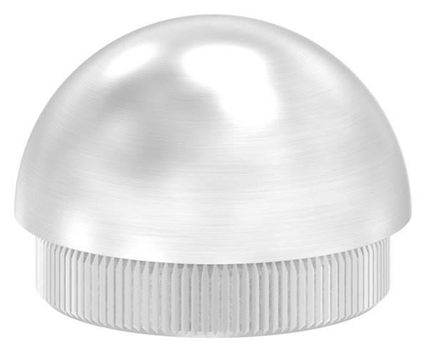 Stopfen halbrund V2A Vollmaterial für Ø 42,4x2,5 mm