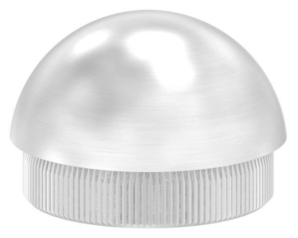 Stopfen halbrund V2A Vollmaterial für Ø 48,3x2,6 mm