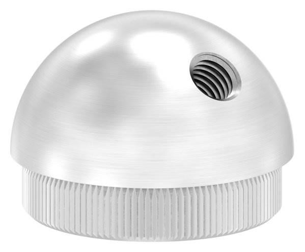 Stopfen halbrund V2A Vollmaterial mit M8 45° für Ø 42,4x2,0 mm