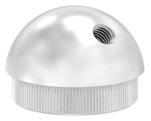 Stopfen halbrund V2A Vollmaterial mit M8 45° für Ø 48,3x2,6 mm