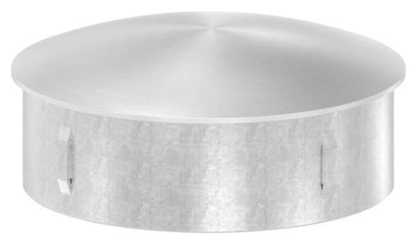 Stopfen leicht gewölbt für Ø 101,6x2,0-2,6 mm V2A gegossen