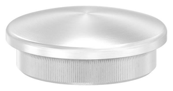Stopfen leicht gewölbt für Ø 42,4x3,0 mm V2A Vollmaterial