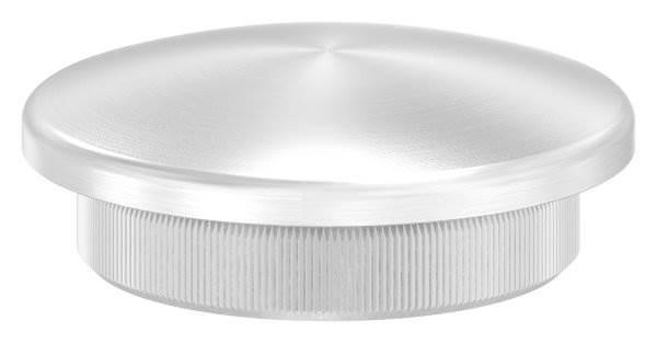 Stopfen leicht gewölbt für Ø 42,4x4,0 mm V2A Vollmaterial