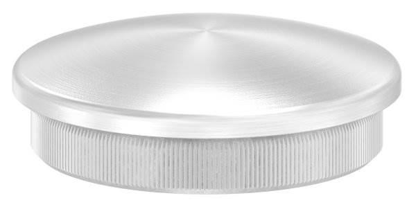 Stopfen leicht gewölbt für Ø 48,3x2,6 mm V2A Vollmaterial