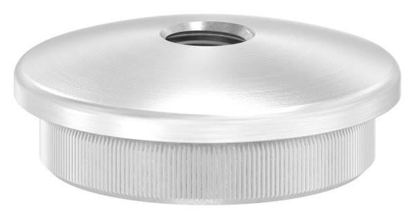 Stopfen leicht gewölbt mit M10 für Ø 42,4x3,0 mm V2A Vollmaterial