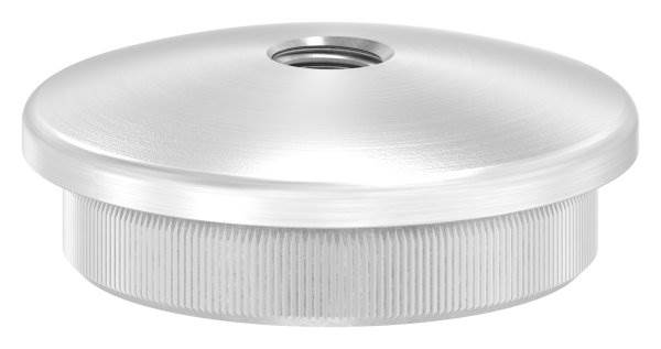 Stopfen leicht gewölbt mit M8 für Ø 42,4x3,0 mm V2A Vollmaterial