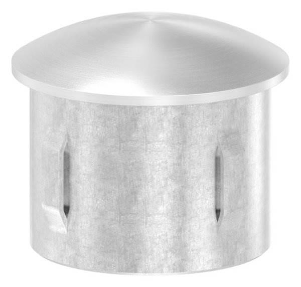 Stopfen leicht gewölbt V2A gegossen für Ø 40,0x2,0-2,6 mm