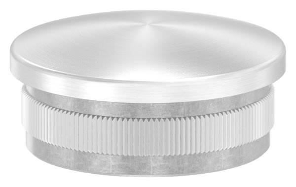 Stopfen leicht gewölbt V2A gegossen für Ø 42,4x2,0 mm