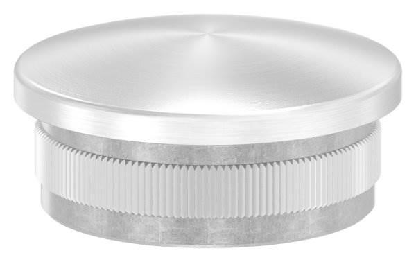 Stopfen leicht gewölbt V2A gegossen für Ø 42,4x2,6 mm