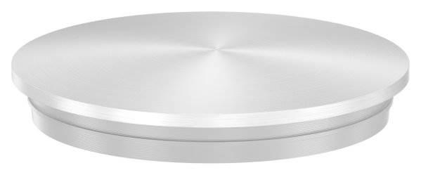 Stopfen leicht gewölbt V2A Vollmaterial Ø 42,4x2,0 mm - mit Nase