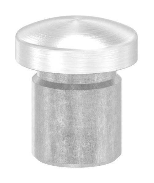 Stopfen leicht gewölbt V2A Vollmaterial für Ø 12,0x1,5 mm
