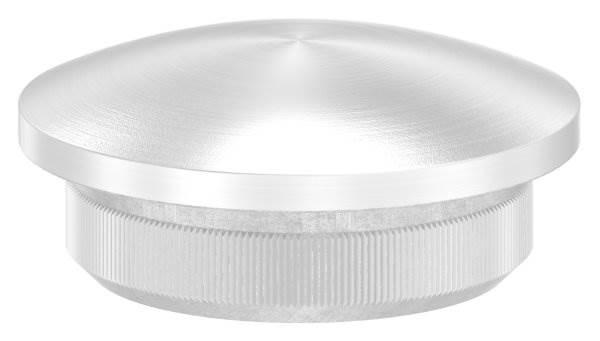 Stopfen leicht gewölbt V2A Vollmaterial für Ø 21,3x2,0 mm - dünne Ausführung