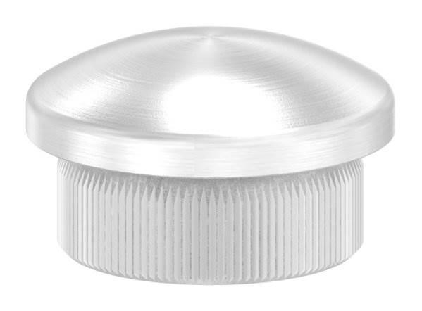 Stopfen leicht gewölbt V2A Vollmaterial für Ø 21,3x2,0 mm