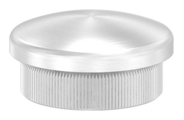 Stopfen leicht gewölbt V2A Vollmaterial für Ø 26,9x2,0 mm
