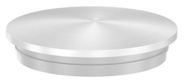 Stopfen leicht gewölbt V2A Vollmaterial für Ø 33,7x2,0 mm - mit Nase