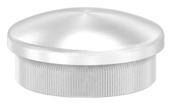 Stopfen leicht gewölbt V2A Vollmaterial für Ø 33,7x2,0 mm
