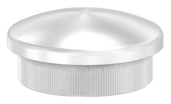Stopfen leicht gewölbt V2A Vollmaterial für Ø 33,7x2,6 mm