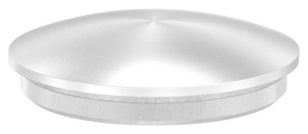 Stopfen leicht gewölbt V2A Vollmaterial für Ø 42,4x2,0 mm - dünne Ausführung