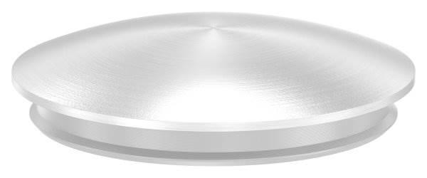 Stopfen leicht gewölbt V2A Vollmaterial für Ø 42,4x2,0 mm - mit Nase
