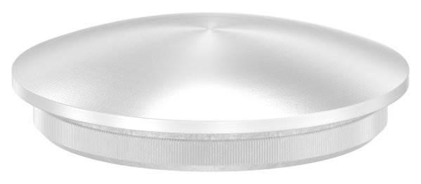 Stopfen leicht gewölbt V2A Vollmaterial für Ø 42,4x2,6 mm - dünne Ausführung