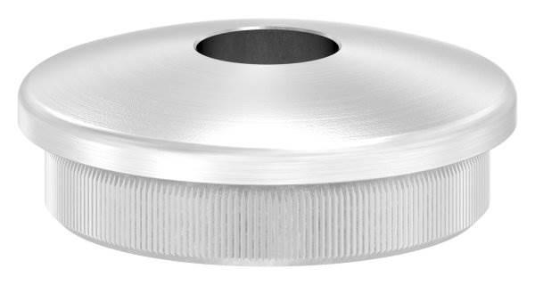Stopfen leicht gewölbt V2A Vollmaterial für Ø 42,4x2,6 mm mit Bohrung 12,1 mm
