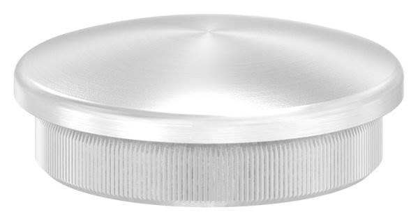 Stopfen leicht gewölbt V2A Vollmaterial für Ø 42,4x2,6 mm