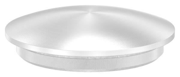 Stopfen leicht gewölbt V2A Vollmaterial für Ø 42,4x3,0 mm - dünne Ausführung