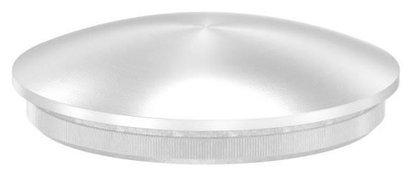 Stopfen leicht gewölbt V2A Vollmaterial für Ø 48,3x2,0 mm - dünne Ausführung