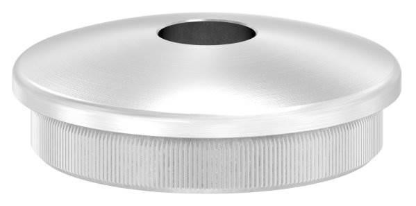 Stopfen leicht gewölbt V2A Vollmaterial für Ø 48,3x2,6 mm mit Bohrung 12,1 mm