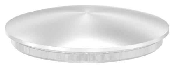 Stopfen leicht gewölbt V2A Vollmaterial für Ø 60,3x2,6 mm - dünne Ausführung