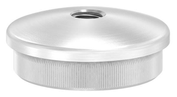 Stopfen leicht gewölbt V2A Vollmaterial mit M8 für Ø 40,0x2,0 mm