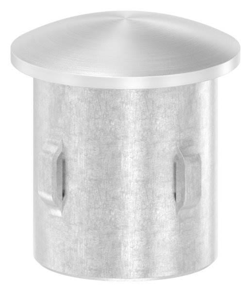 Stopfen leicht gewölbt V4A gegossen für Ø 26,9x1,6-2,6 mm