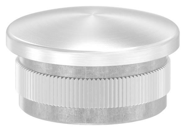 Stopfen leicht gewölbt V4A gegossen für Ø 33,7x2,0 mm