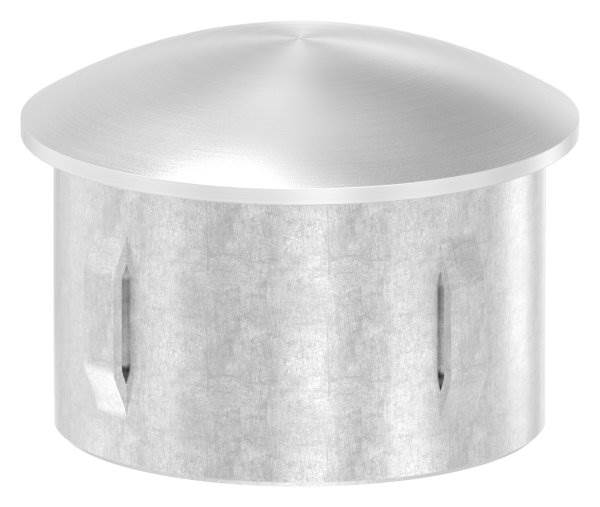 Stopfen leicht gewölbt V4A gegossen für Ø 48,3x2,0-2,6 mm