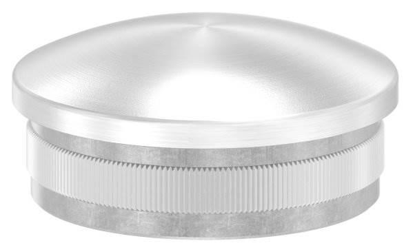 Stopfen leicht gewölbt V4A gegossen für Ø 48,3x2,0 mm
