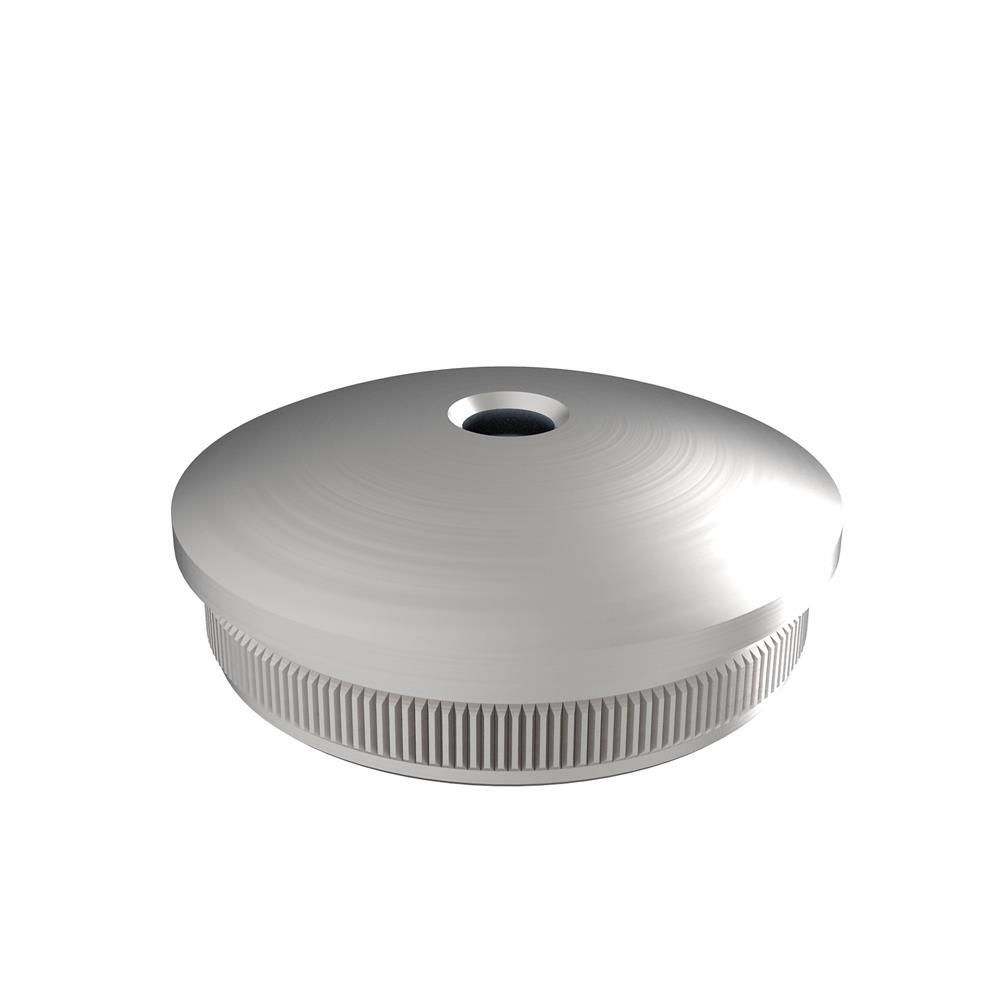 Stopfen | leicht gewölbt / Vollmaterial | mit M8 für Ø 42,4x2,0 mm | V2A